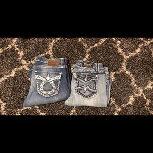 Miss me size 32 and big star size 31
